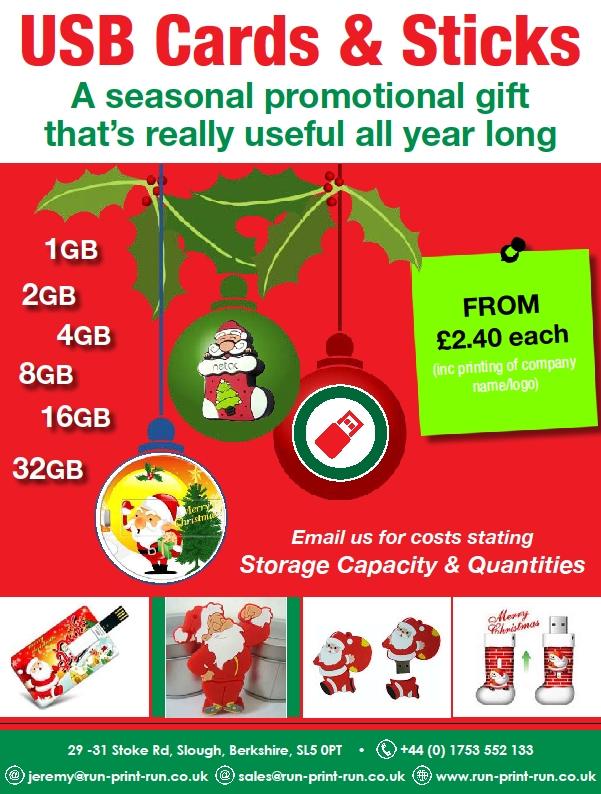 xmas promotion usb cards and sticks