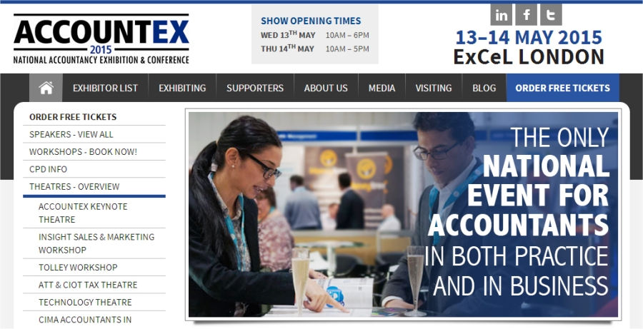 accountex front page