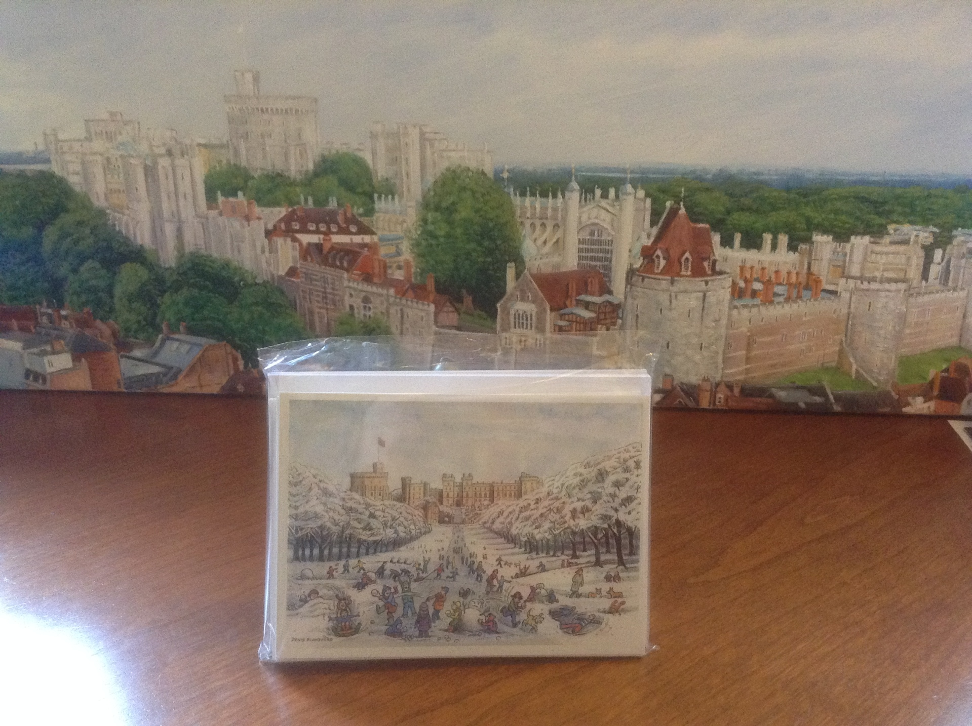 denis blandford castle christmas card