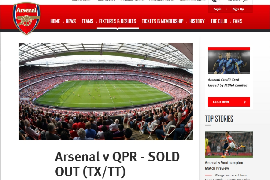 arsenal v qpr boxing day
