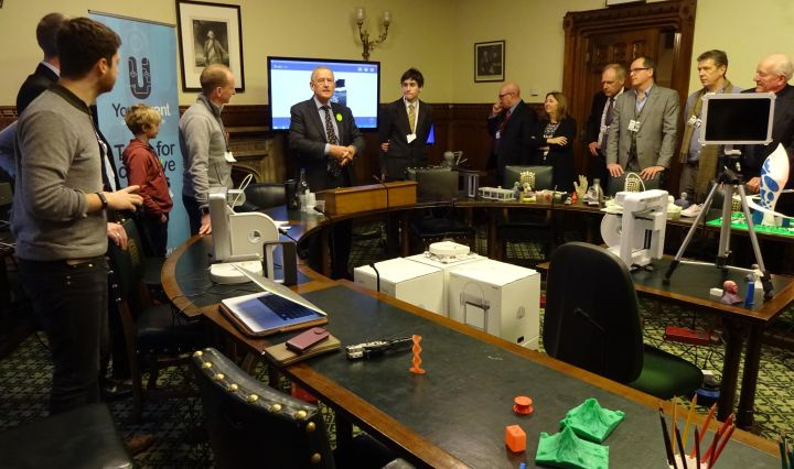 crowd patch 3D Printers parliament barry sheerman