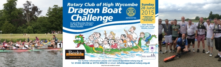 dragon boat challenge crowd patch banner