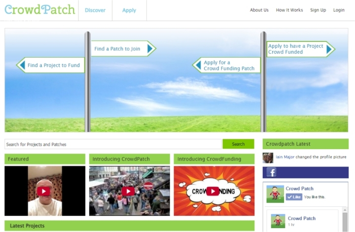 crowdpatch home page