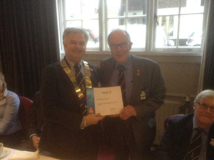 end polio now windsor rotarian adrian stabbins and geoff kidd