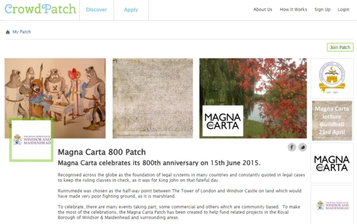magna carta 800 patch front page