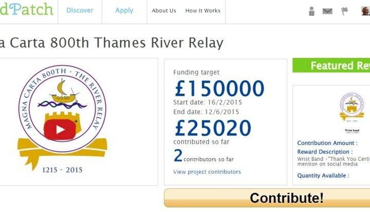 magna carta 800 thames river relay