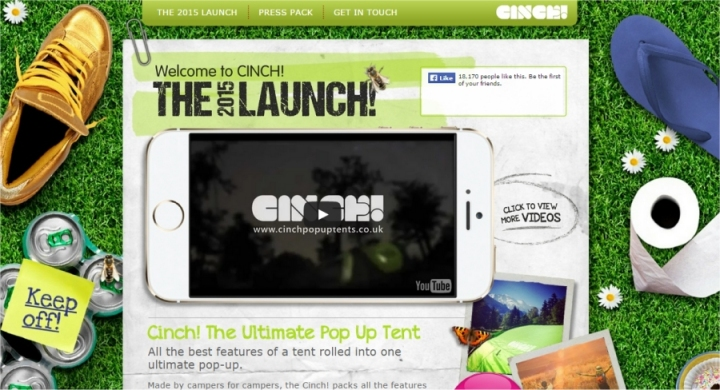 cinch web page
