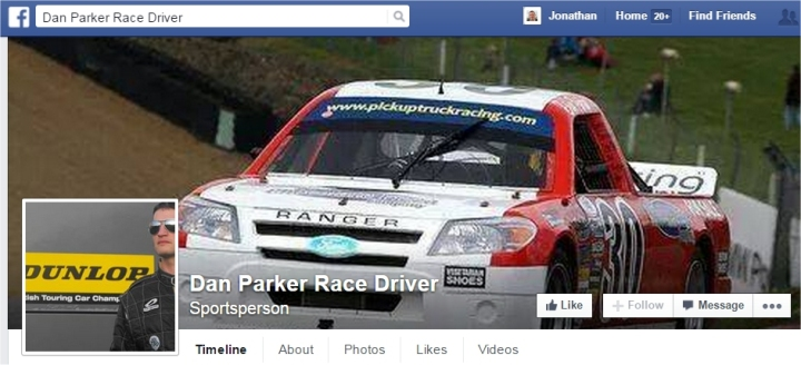 dan parker racing driver facebook