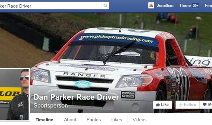 dan parker racing driver facebook