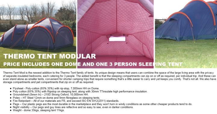 thermo tent 6 modular