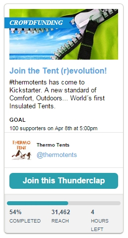 thunderclap thermo tent