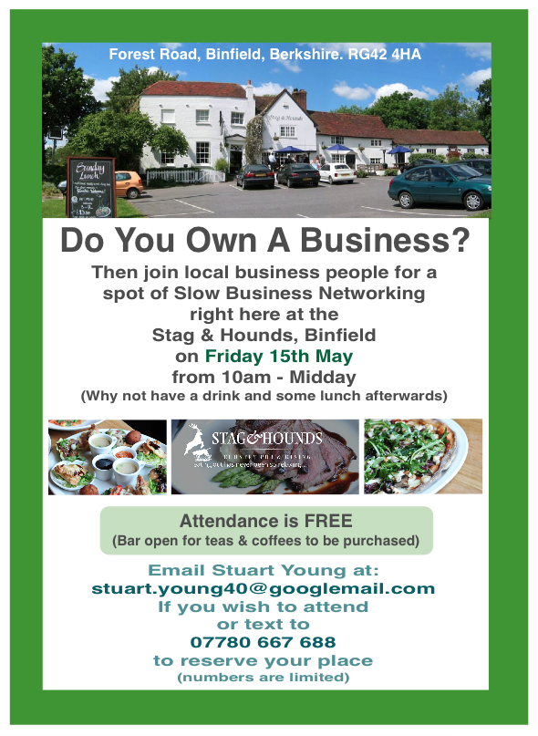 slow business networking binfield 15th may