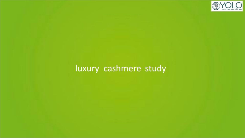 luxury cashmere study yolo communications
