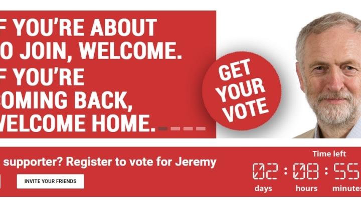 jeremy corbyn for labour leader clock
