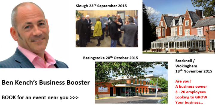 Ben Kench Business Booster looking to grow your business