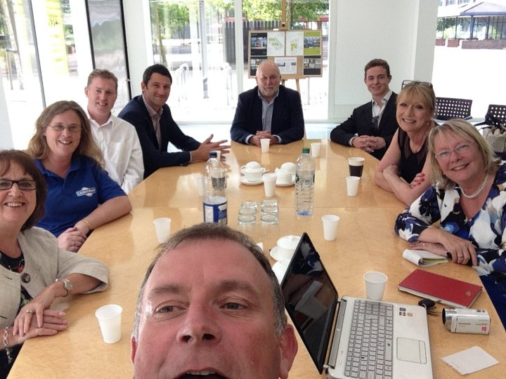 jon davey slow business networking maidenhead selfie