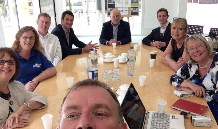 jon davey slow business networking maidenhead selfie