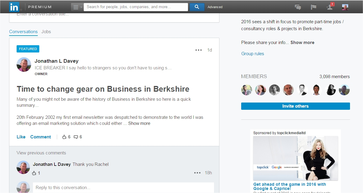 business in berkshire linkedin group invite others