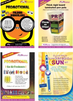 promotional gifts run print run