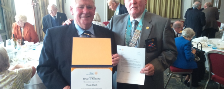 chris-clark-50-years-rotary-with-fred-king